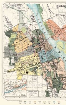 Plan miasta Warszawy i okolic 1885 reprint (F.Kasprzykiewicz)