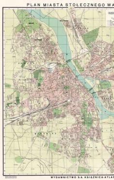 Plan M.St. Warszawy 1939 reprint (opr. zbiorowe)