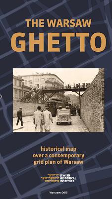 Getto warszawskie mapa historyczna wer.angielska (opr. zbiorowe)