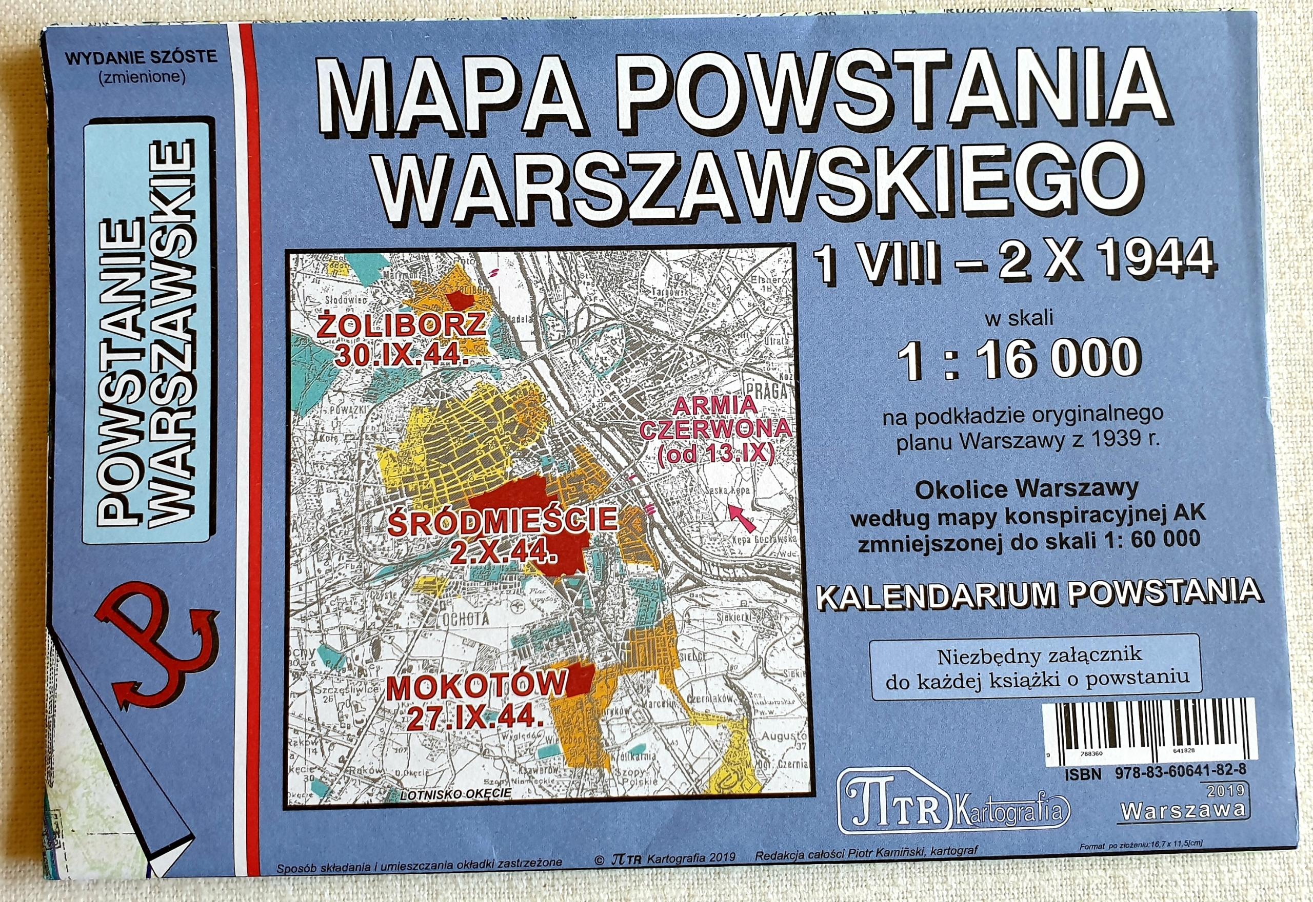 Mapa Powstania Warszawskiego (opr.zbiorowe)